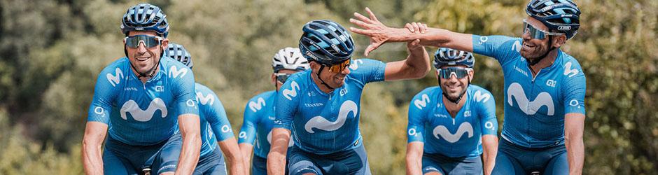 maglia ciclismo Movistar manica lunga
